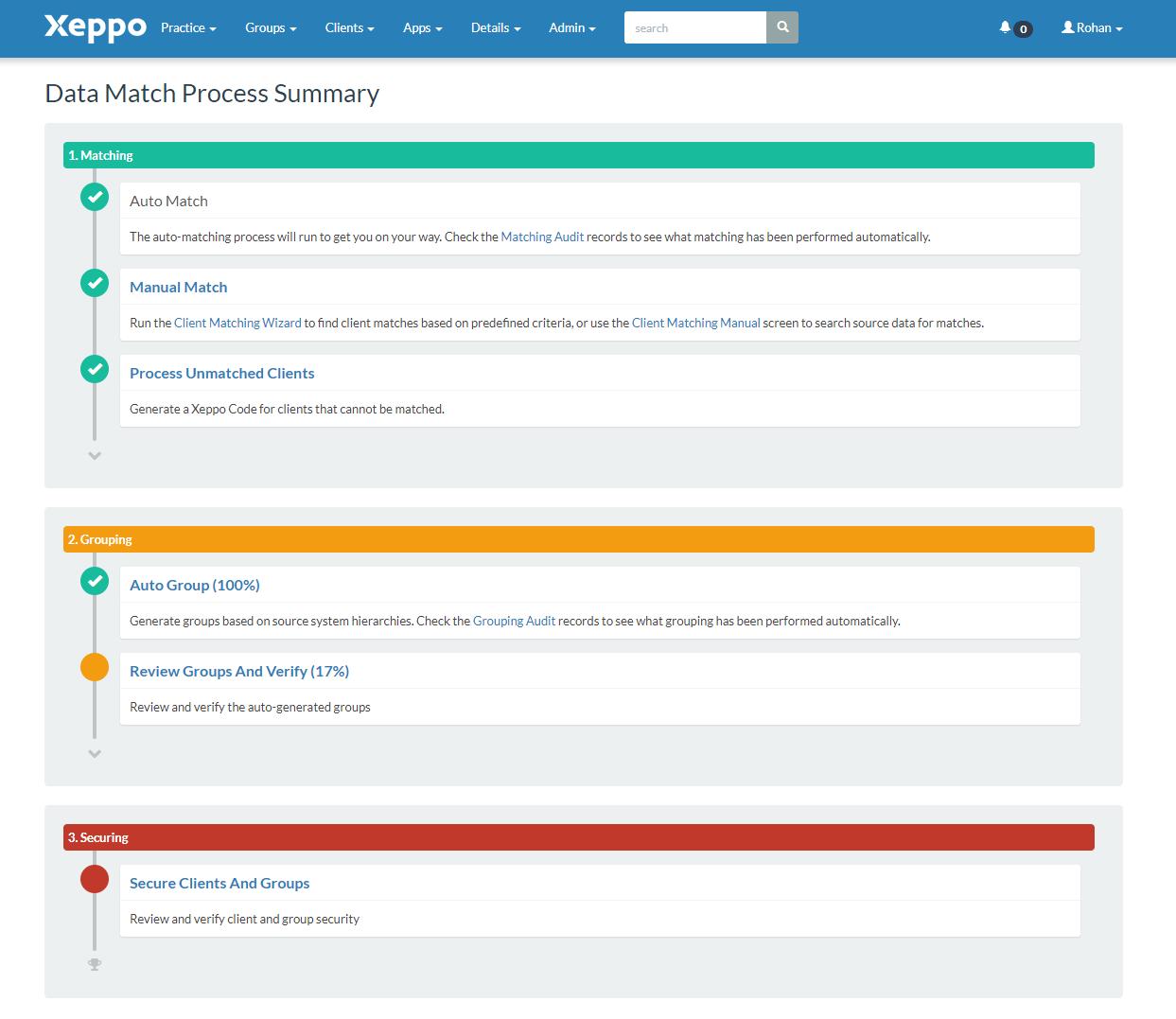 Xeppo - Organises data